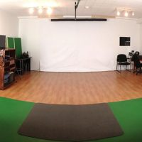 Studio with backdrops